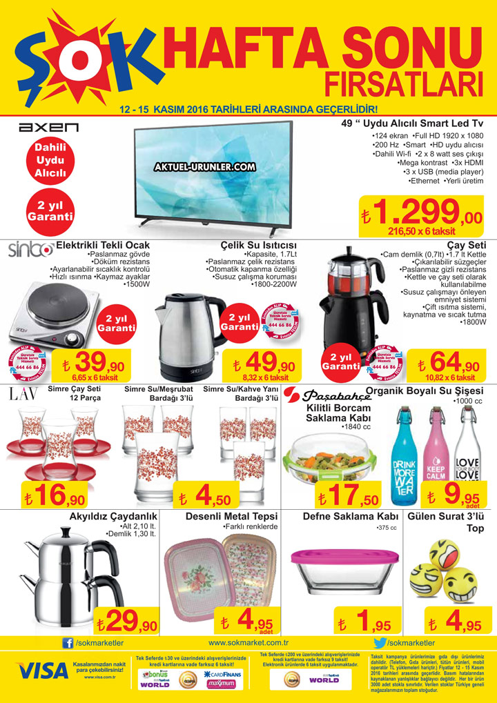 ŞOK 12 Kasım 2016 Aktüel Ürünler Kataloğu