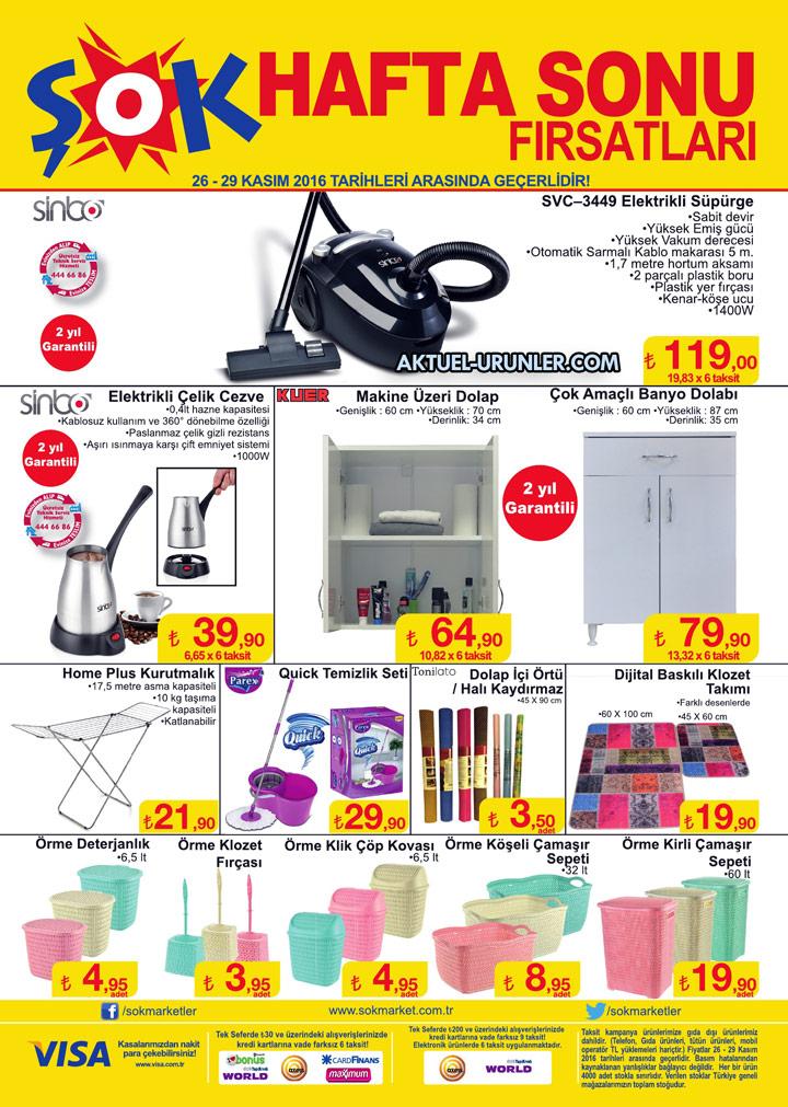 ŞOK 26 Kasım 2016 Aktüel Ürünler Kataloğu