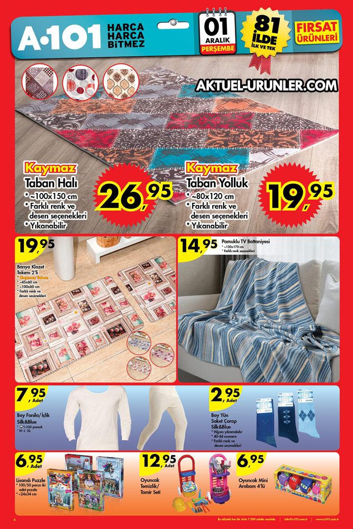 A101 1 Aralık 2016 Aktüel Ürün Kataloğu – Ev Tekstili