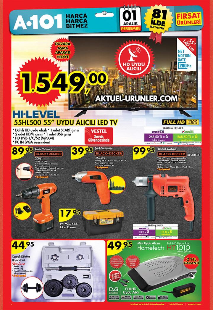 A101 1 Aralık Aktüel Ürünler Kataloğu – Hi Level TV