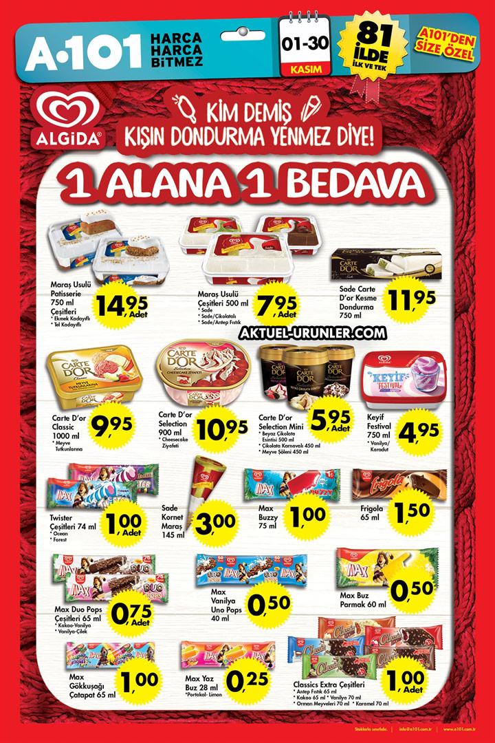 A101 1 Kasım & 30 Kasım Aktüel Ürünleri – ALGİDA