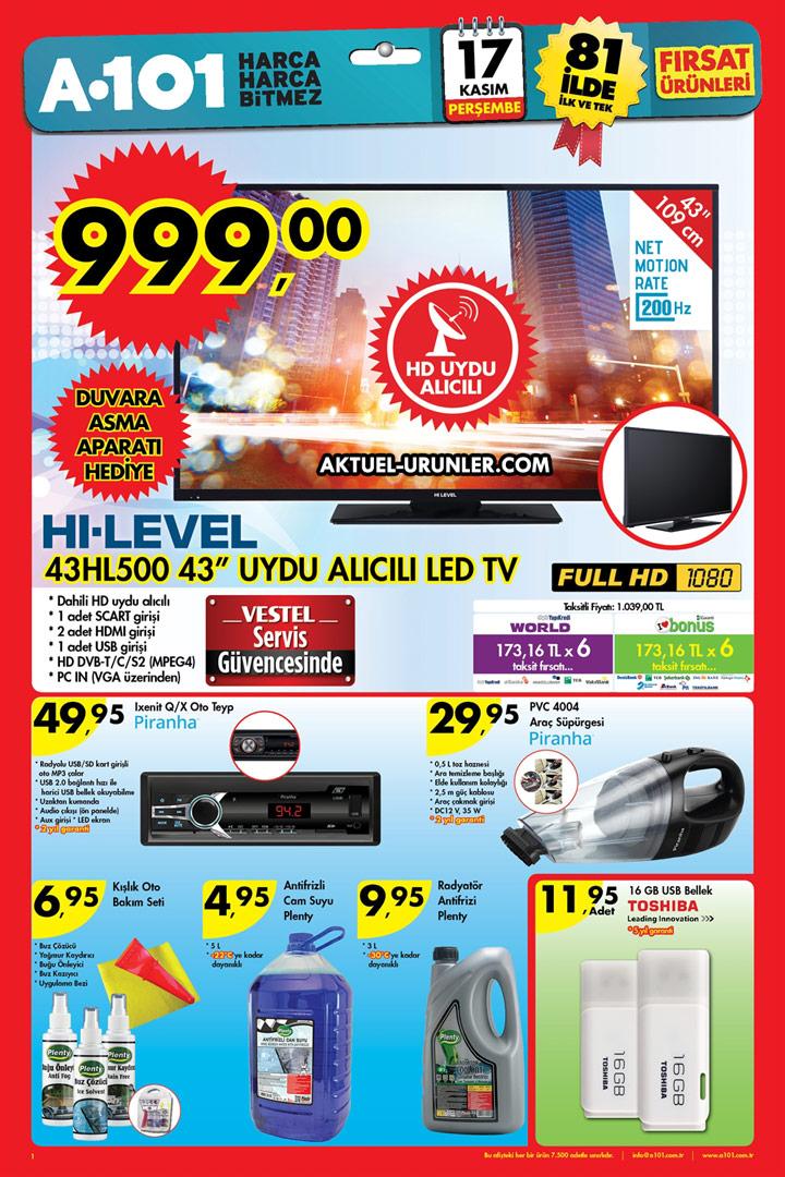 A101 17 Kasım Perşembe – Otomobil Ürünleri