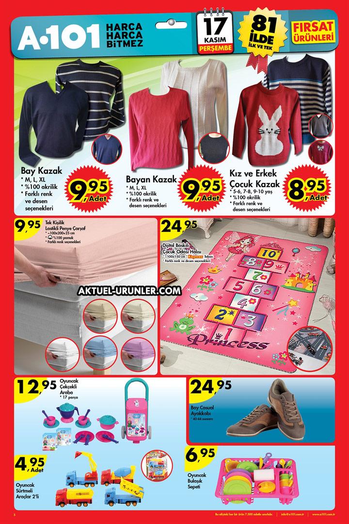 A101 17 Kasım Perşembe – Tekstil Ürünleri