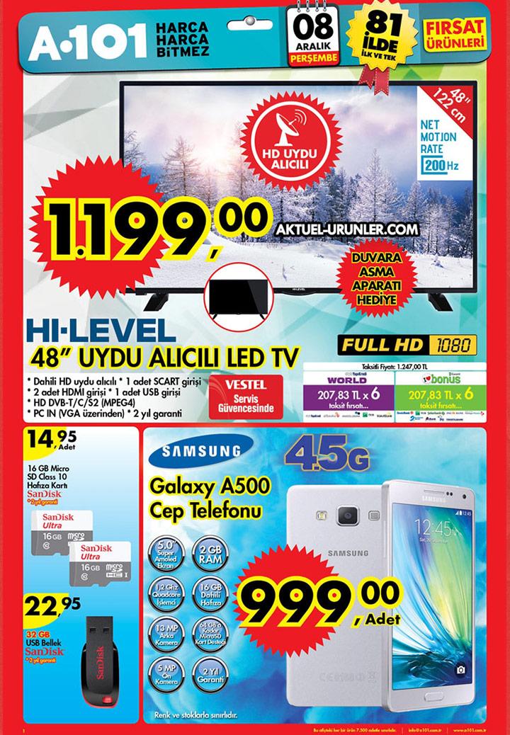 A101 8 Aralık Aktüel Ürün Fırsatları – Hi-Level TV