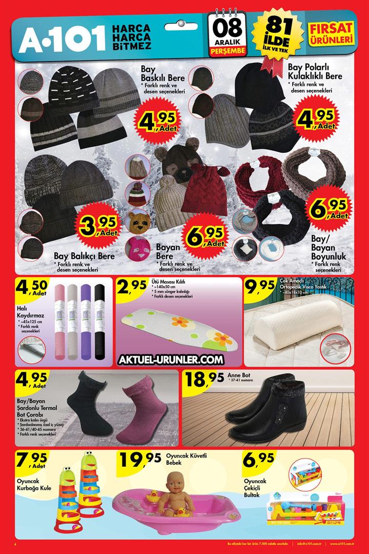 A101 8 Aralık Aktüel Ürünleri Sayfası – Bere & Bot