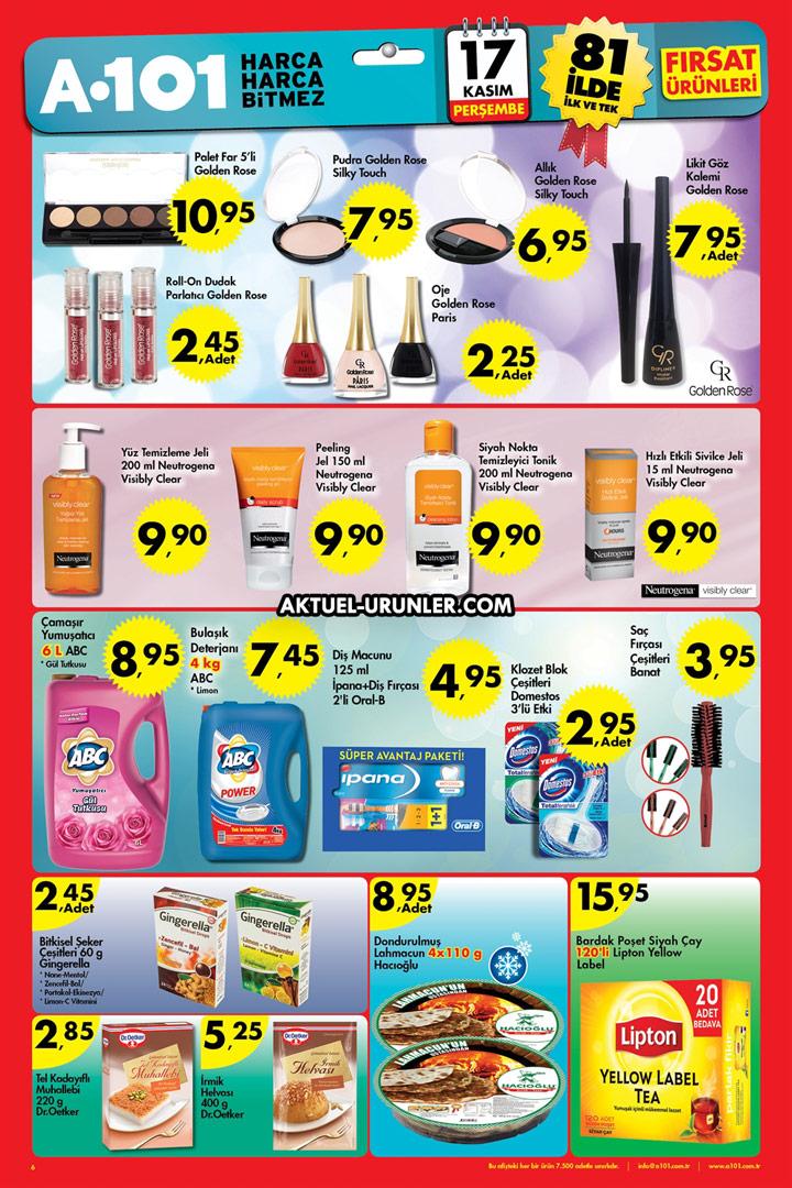 A101 Aktüel 17 Kasım – Makyaj Ürünleri ve Dahası