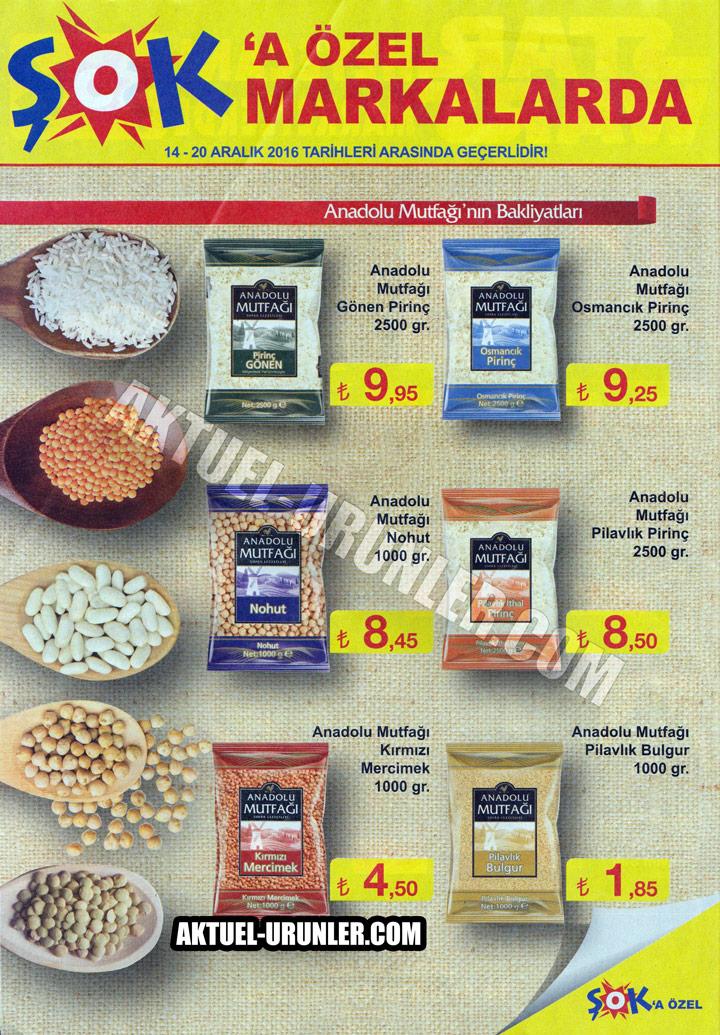 ŞOK 14 Aralık – 20 Aralık & Anadolu Mutfağı Ürünleri