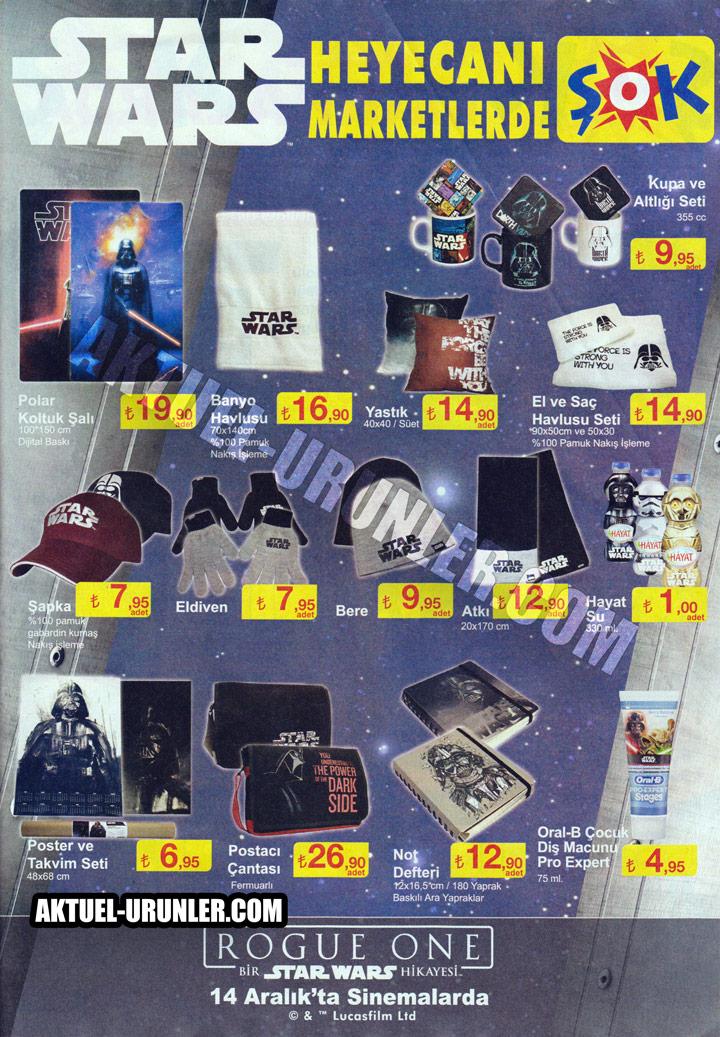 ŞOK 14 Aralık Aktüel – Star Wars Ürünleri