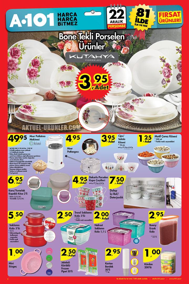 A101 22 Aralık Aktüel Fırsatları – Mutfak Ürünleri