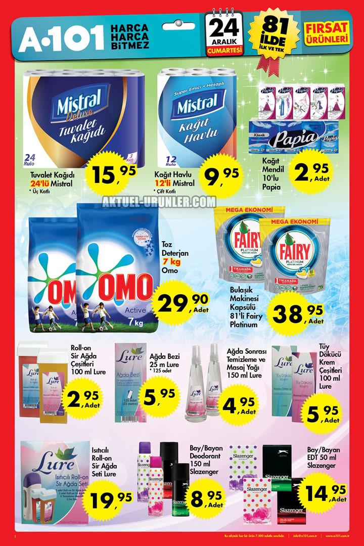 A101 24 Aralık 2016 Aktüel Ürünler Kataloğu