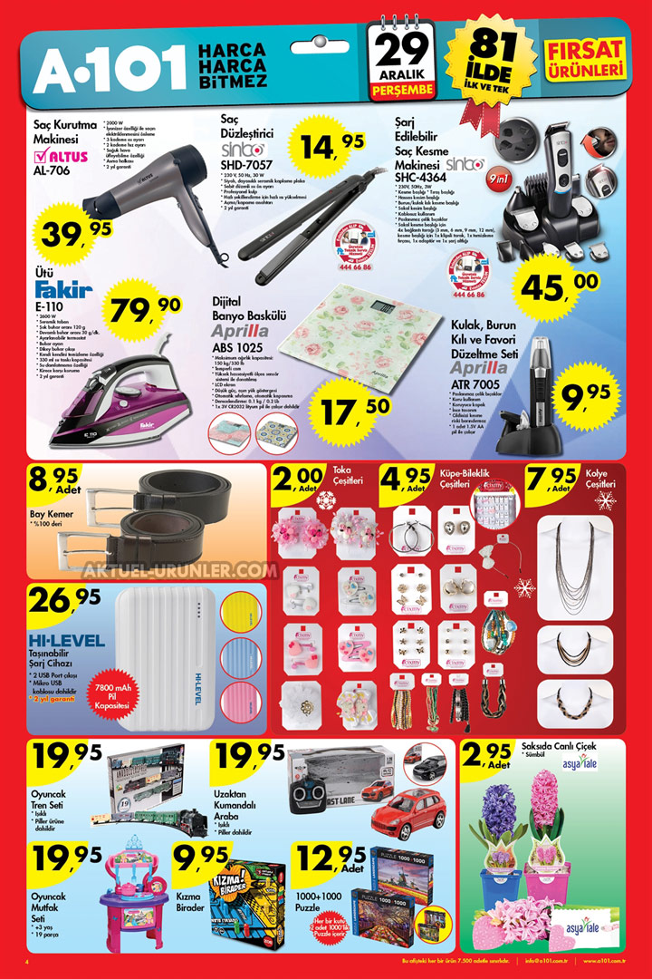 A101 29 Aralık Aktüel Ürünleri – Elektronik Fırsatlar