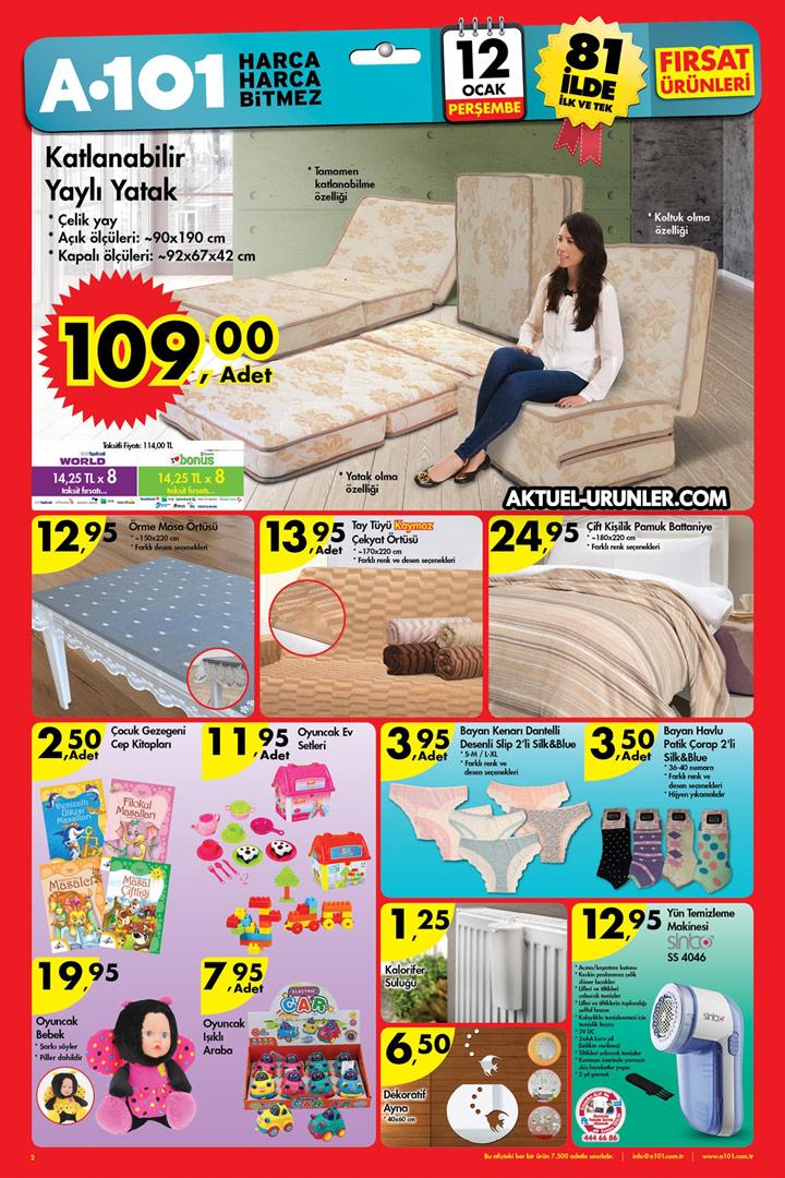 A101 12 Ocak Aktüel Ürünleri – Katlanabilir Yaylı Yatak