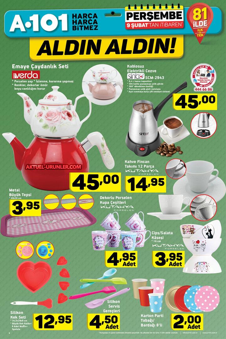 A101 9 Şubat Aktüel Ürünleri – Mutfak Ürünleri Sayfası