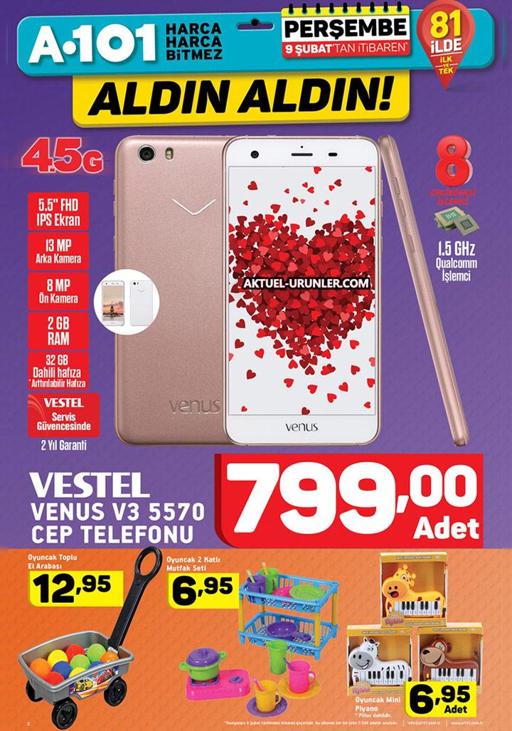 A101 9 Şubat Aktüel – Vestel Venus V3 5570