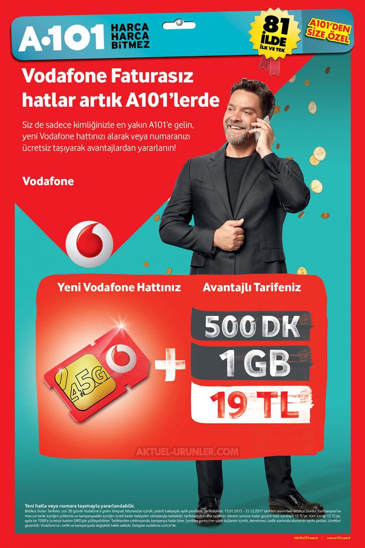 A101 Vodafone Faturasız Hat İndirimli Tarifeleri