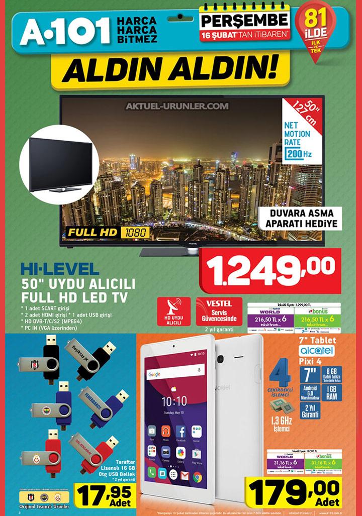 A101 16 Şubat Aktüel Sayfa 1 – Hi Level TV