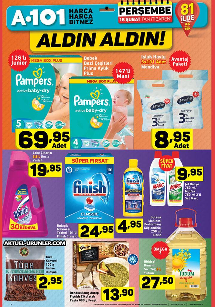 A101 16 Şubat Aktüel Sayfa 2 – Gıda & Temizlik