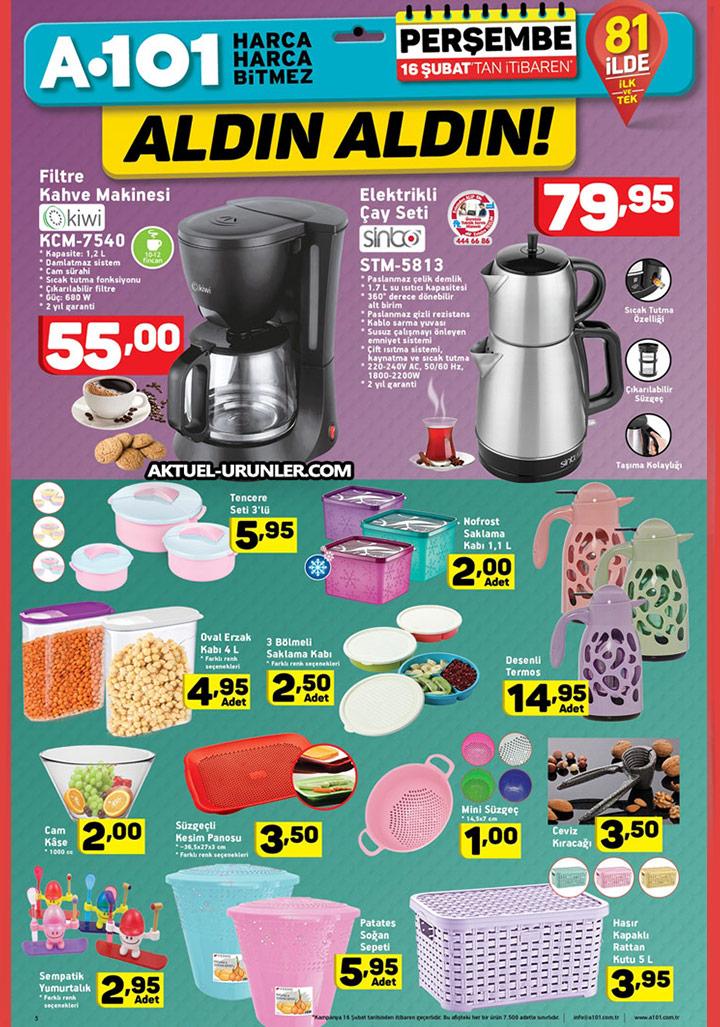 A101 16 Şubat Aktüel Sayfa 4 – Mutfak Ürünleri