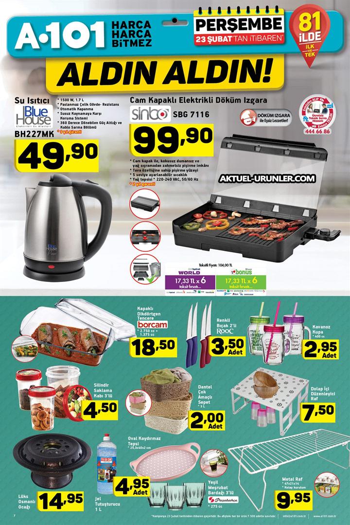 A101 23 Şubat 2017 – Mutfak Ürünleri Sayfası Aktüel