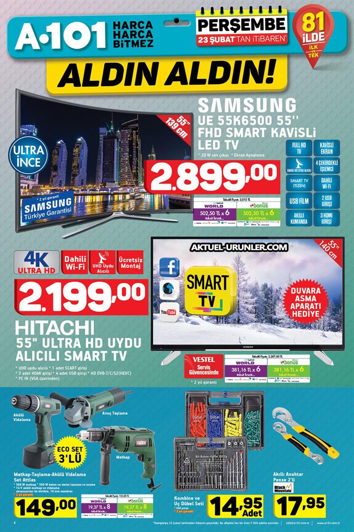 A101 23 Şubat 2017 – Samsung UE 55K6500 TV Aktüel