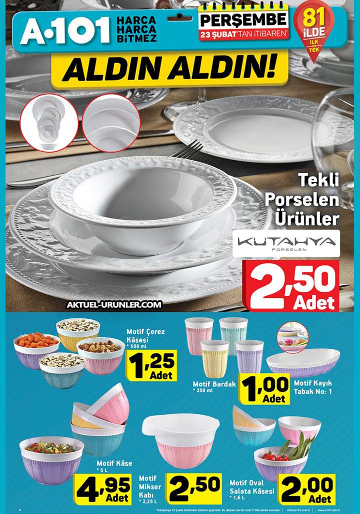 A101 23 Şubat Aktüel 3 – Mutfak Ürünleri Sayfası