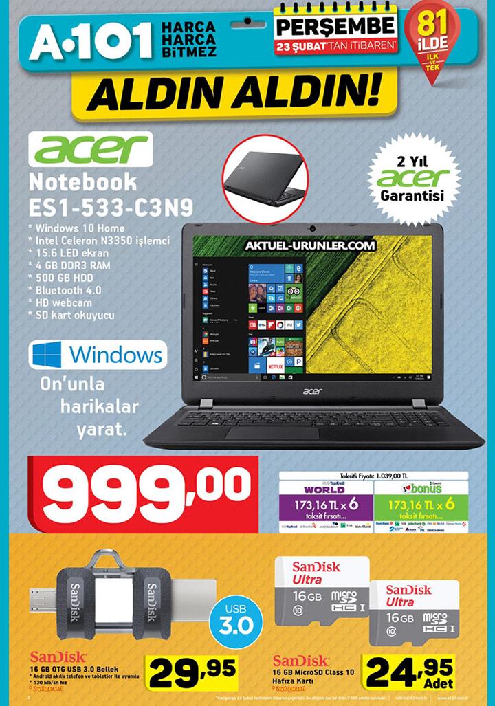 A101 23 Şubat Aktüel 1 – Elektronik Ürünler Sayfası