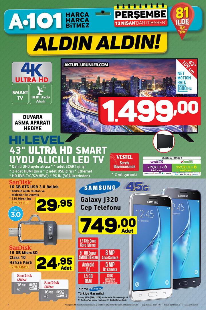 A101 13 Nisan Aktüel Fırsatı & TV ve Cep Telefonu