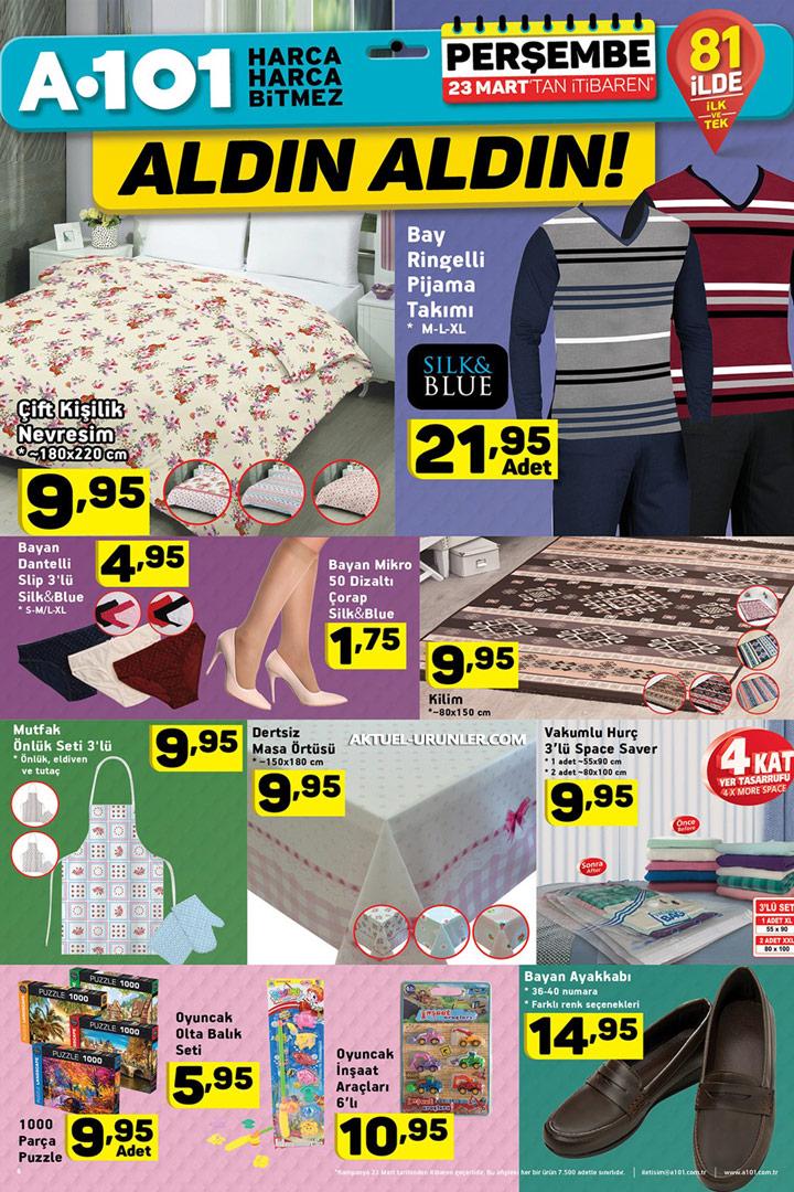 A101 23 Mart Aktüel Katalogları – Tekstil Ürünleri