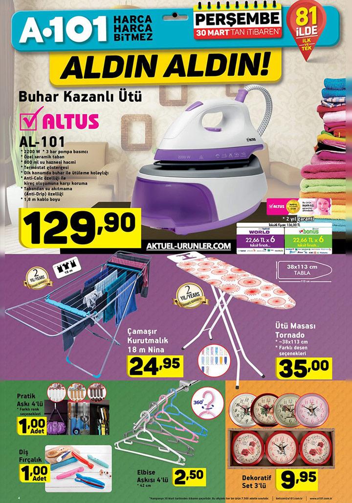 A101 30 Mart Aktüel Ürün Katalogları – Ütü Fırstaları