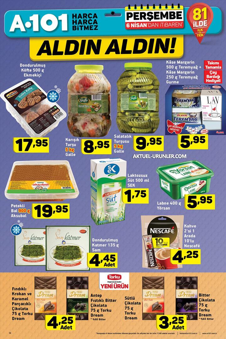 A101 6 Nisan Aktüel Ürün Fırsatları – Gıda İndirimleri