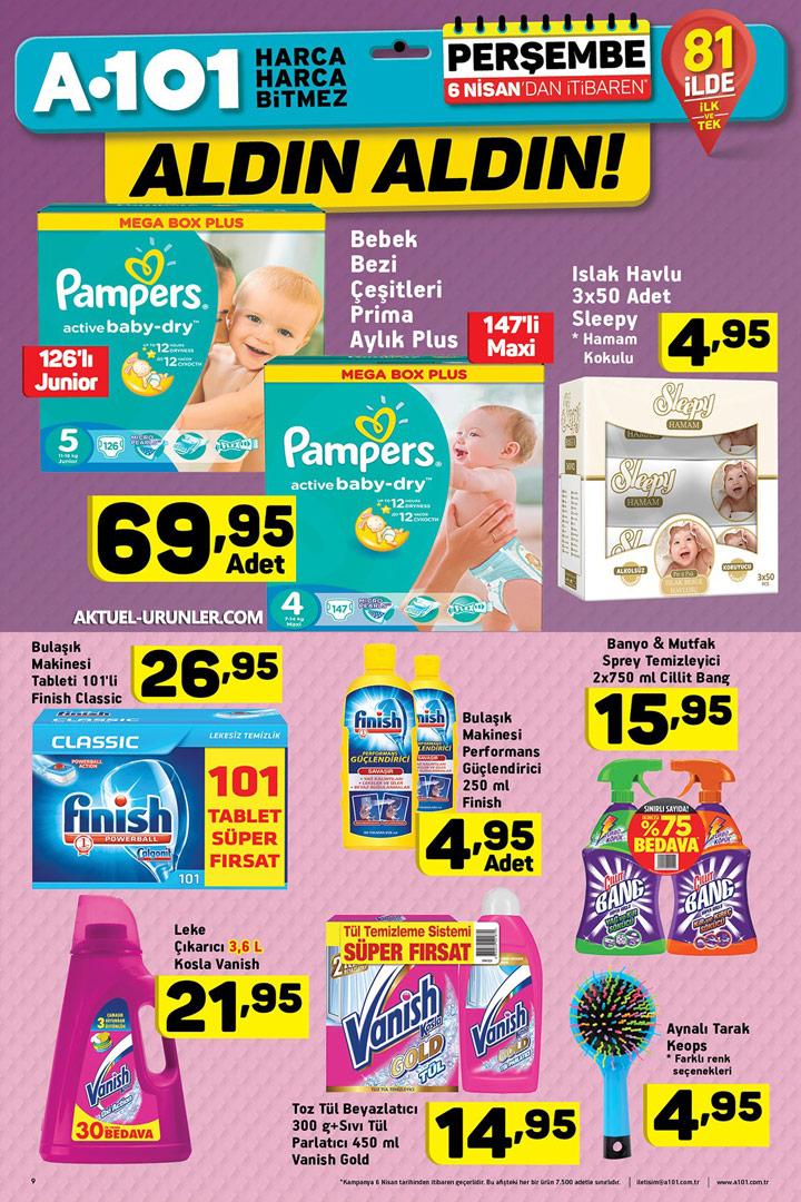 A101 6 Nisan Aktüel Ürünleri Temizlik Fırsatları