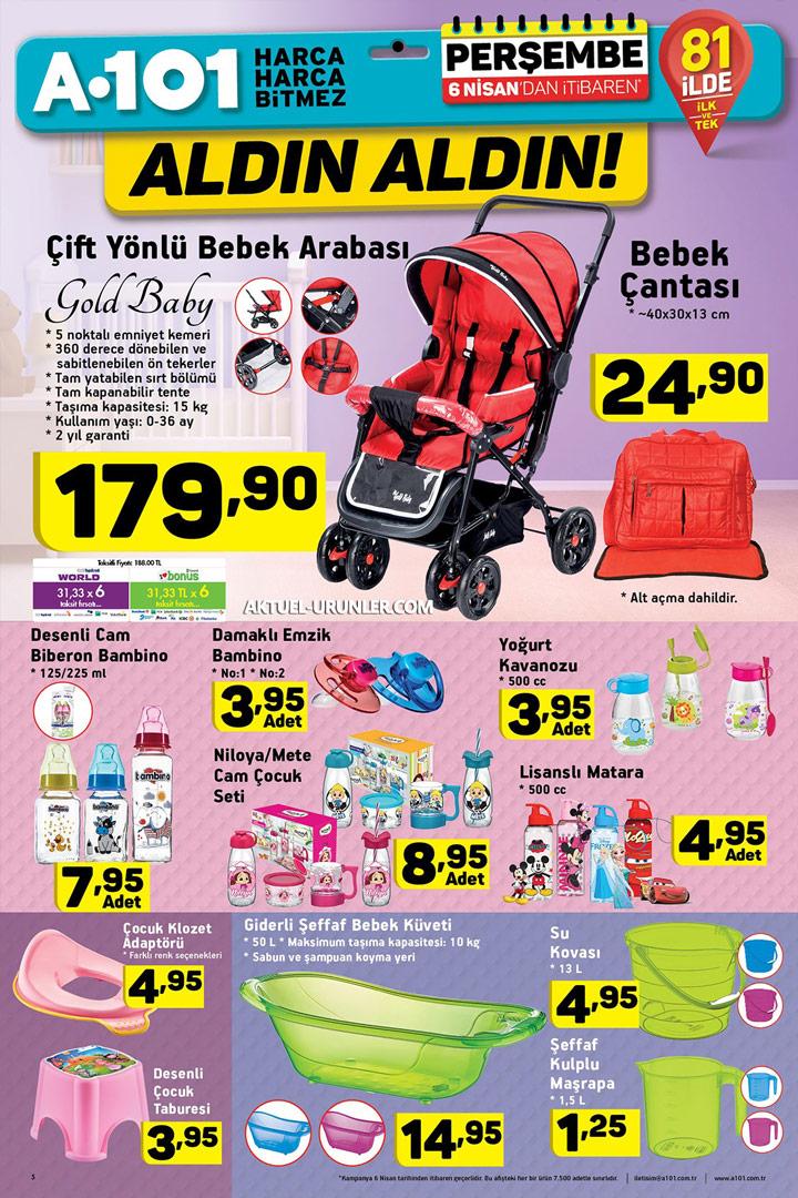 A101 6 Nisan Aktüel Bebek Ürünleri Sayfası