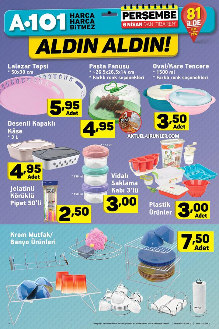 A101 6 Nisan'dan İtibaren Aktüel Ürünler Sayfası