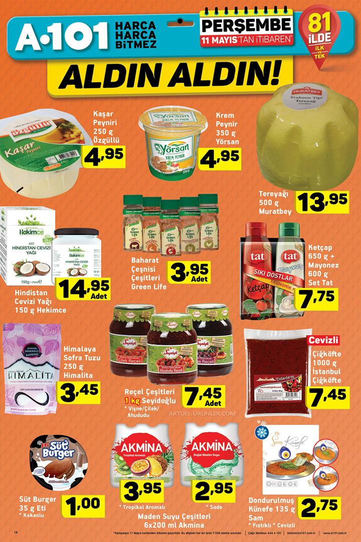 A101 11 Mayıs Gıda İndirimleri Aktüel Ürün Fırsatları