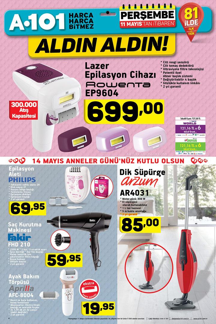 A101 11 Mayıs Rowenta Lazer Epilasyon – Anneler Günü Özel