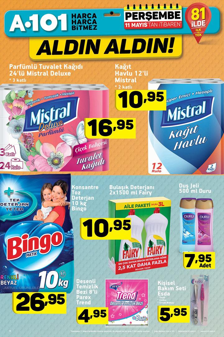 A101 11 Mayıs Temizlik Aktüel Ürünleri Sayfası