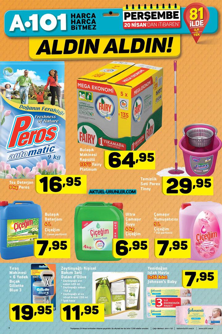 A101 20 Nisan Perşembe Temizlik Aktüel Ürünleri