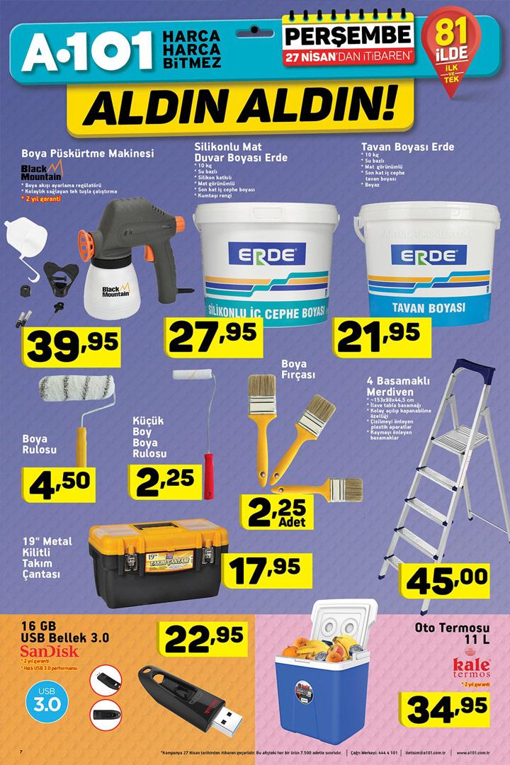 A101 27 Nisan Perşembe Aktüel Ürün Katalogları