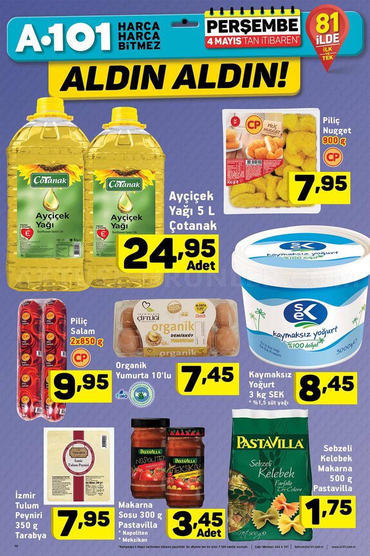 A101 4 Mayıs Gıda Ürünleri İndirimleri Sayfası