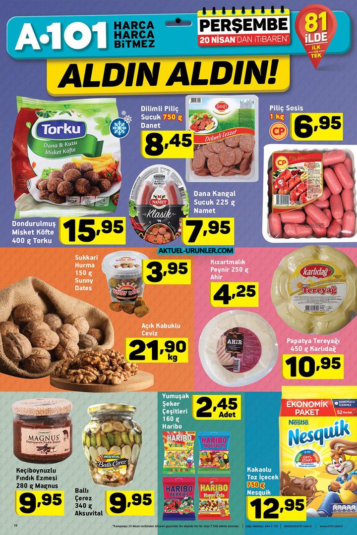 A101 Aktüel 20 Nisan Gıda Ürünü İndirimleri