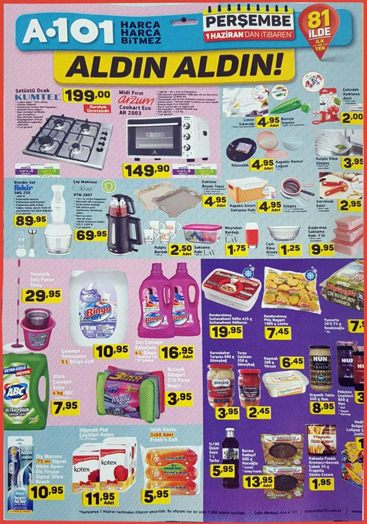A101 1 Haziran Aktüel Mutfak Ürünleri Kataloğu