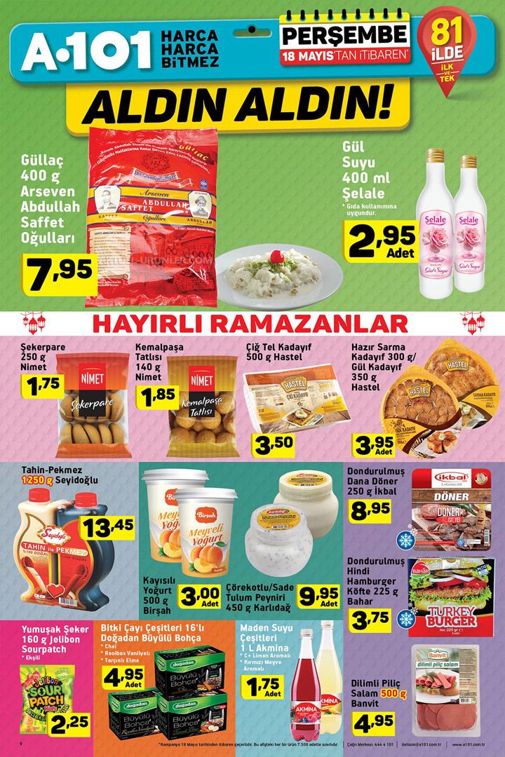 A101 18 Mayıs 2017 & Ramazan Ayı Aktüel Ürünleri