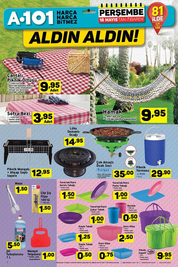 A101 18 Mayıs Aktüel Ürünler Perşembe Kataloğu