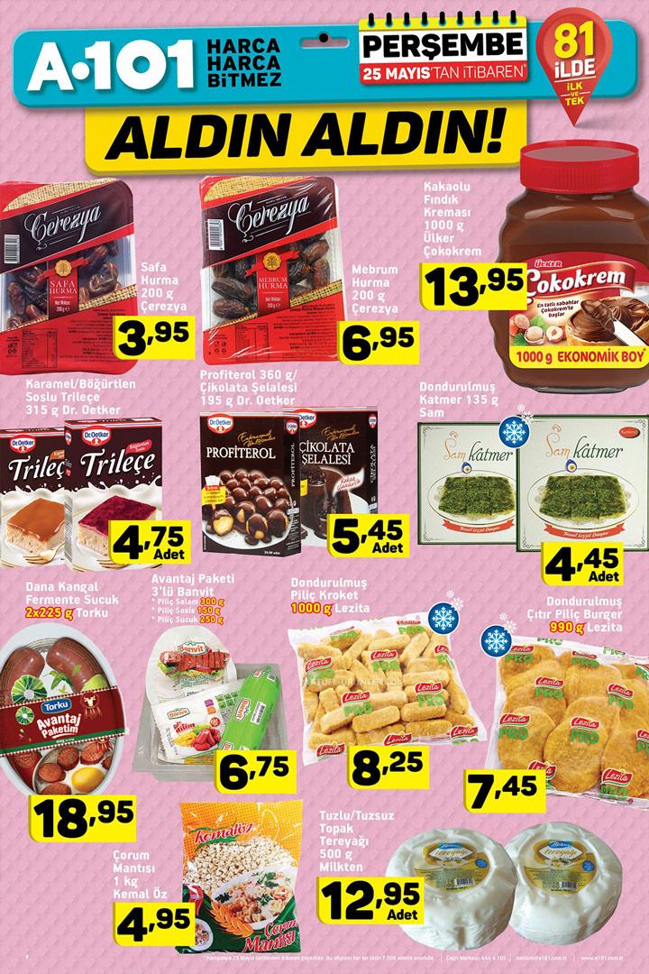 A101 25 Mayıs Aktüel Gıda Fırsatları Sayfası İncelemesi