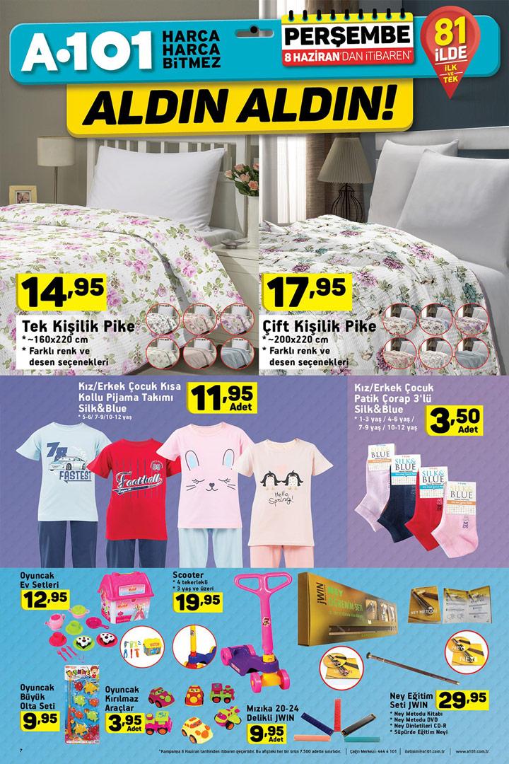 A101 8 Haziran Aktüel Ev Tekstili Ürünleri