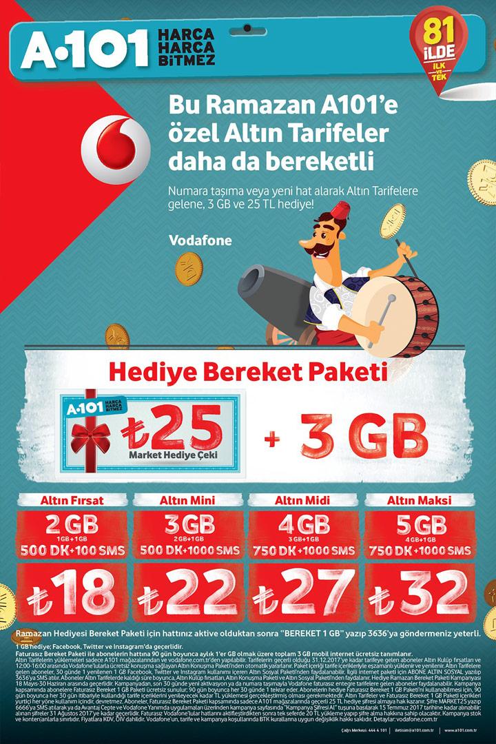 A101 Vodafone Ramazan Bereket Paketi İncelemesi