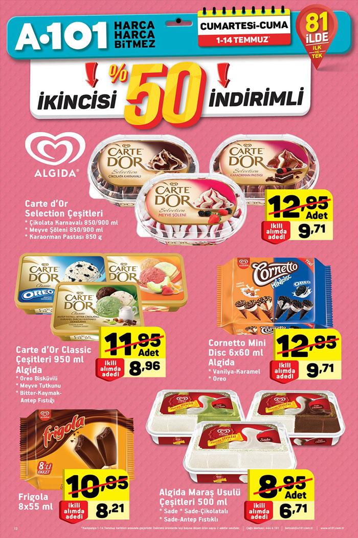 A101 1 Temmuz & 14 Temmuz Dondurma Kampanyası