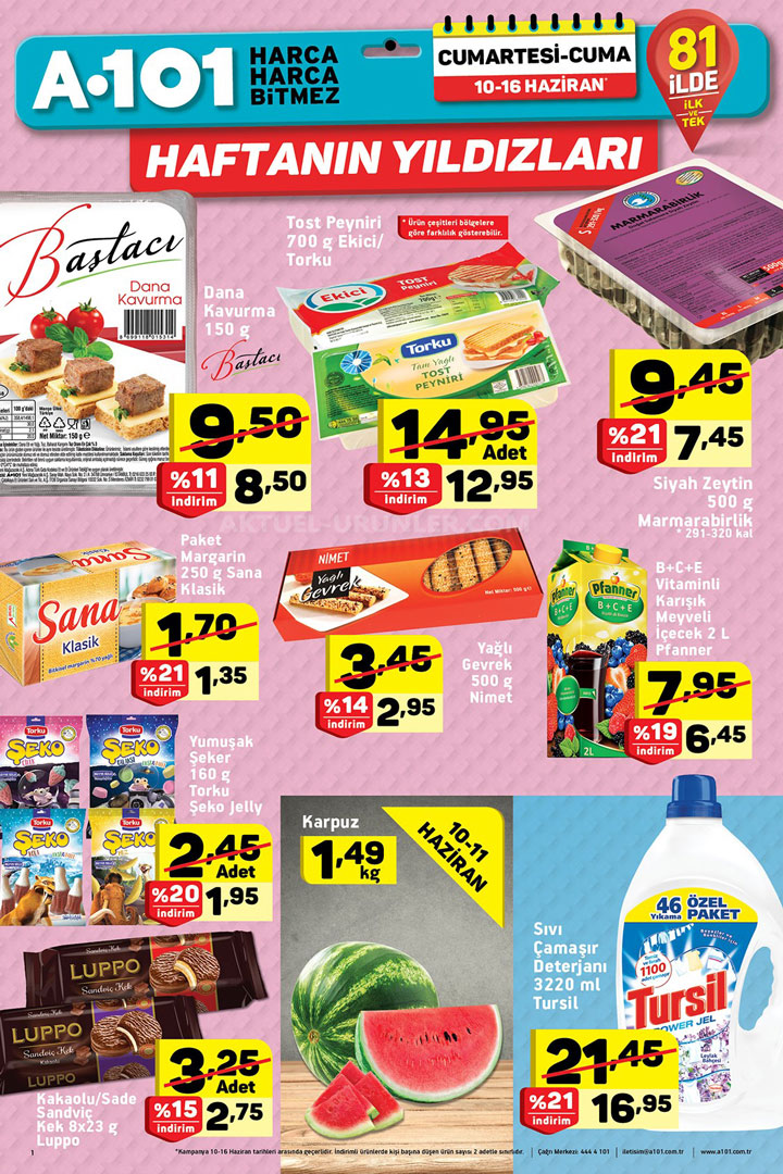 A101 10 Haziran Aktüel Ürünler Kataloğu