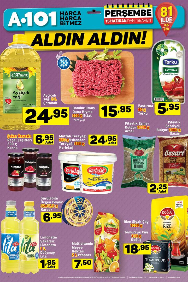 A101 15 Haziran Aktüel Gıda Ürünleri Sayfası İncelemesi