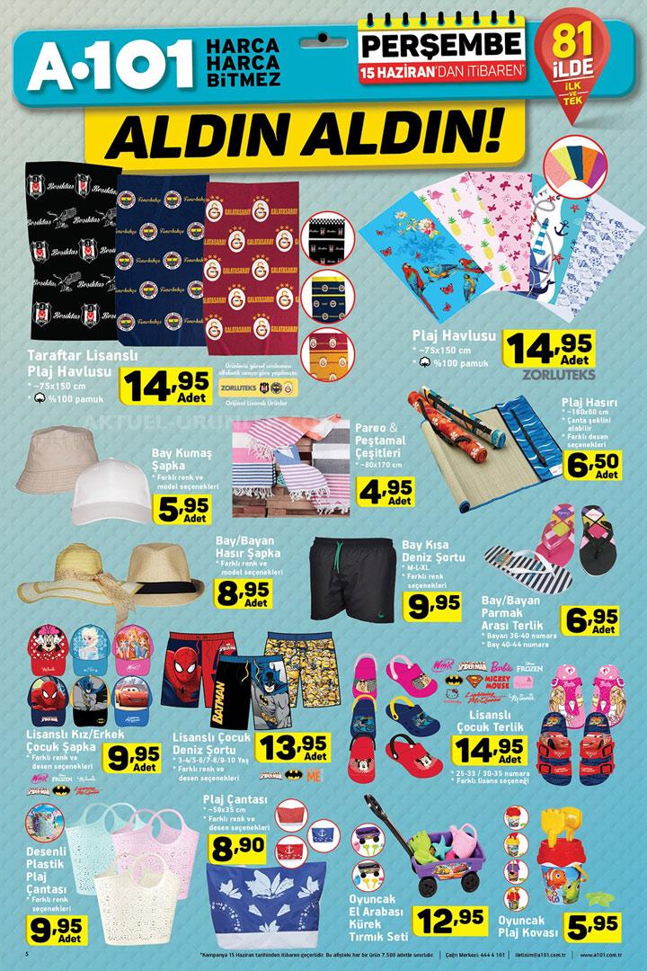 A101 15 Haziran Plaj & Tatil Ürünleri Aktüel Sayfası